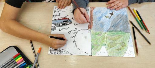 Šiaurės salos dailės pamokoje