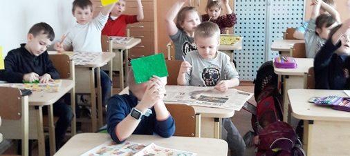 """""""Žaidžiame Lietuvą"""" 1b klasėje"""