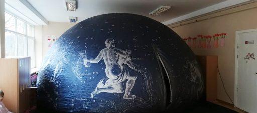Priešmokyklinukai stebėjo sferinį kiną