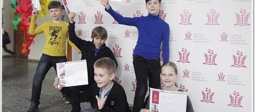 2-4 klasių mokyklinės matematikos olimpiados laimėtojai