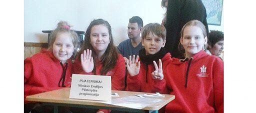Mūsų mokyklos ketvirtokai laimėjo I vietą anglų kalbos viktorinoje