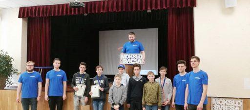 Sveikiname penktoką, laimėjusį I vietą programavimo olimpiadoje