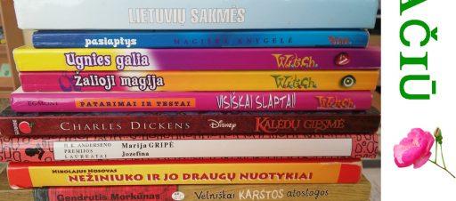 Dėkojame už dovanotas knygas