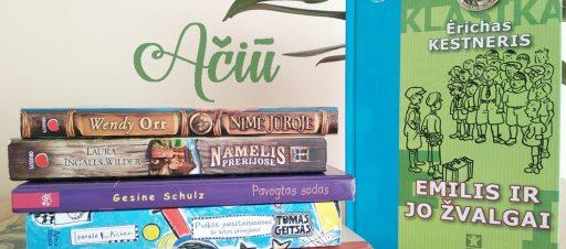 Dėkojame už dovanotas bibliotekai knygas