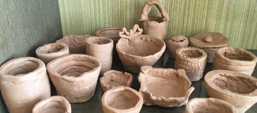 8c klasės mokiniai mokėsi keramikos paslapčių