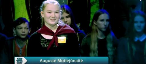 Sveikiname Augustę Motiejūnaitę