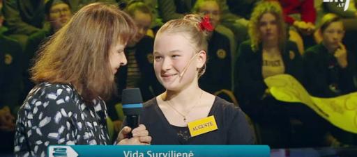 Sveikiname Augustę laimėjus II vietą Vilniaus miesto lietuvių kalbos olimpiadoje