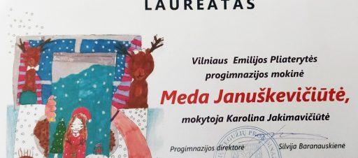 Respublikinio piešinių konkurso laureatė Meda