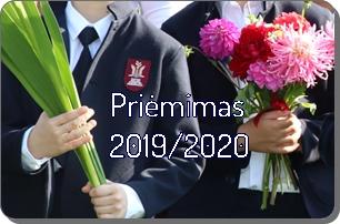 Priėmimas 2019-2020 mokslo metams
