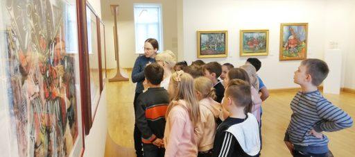 V.Kasiulio dailės muziejuje lankėsi 1e mokiniai