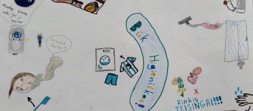 Integruota dailės pamoka apie higieną