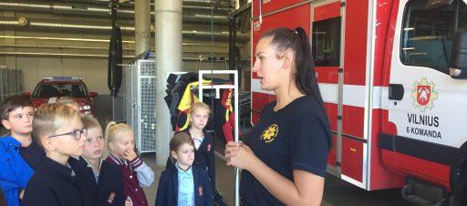 3c ir 3d mokiniai pas ugniagesius