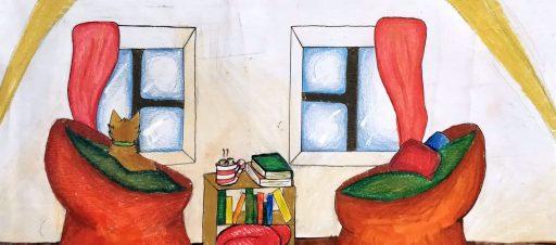 Mokinių darbų parodos bibliotekoje
