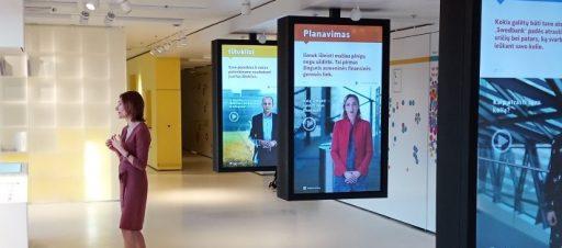 Išvyka į Swedbank Finansų laboratoriją