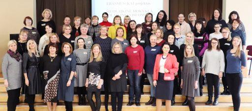 Erasmus+ KA1 projekto veiklų pristatymas Vilniaus miesto mokytojams