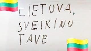 Rašau Lietuvos vardą