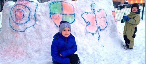 Tapyba ant sniego