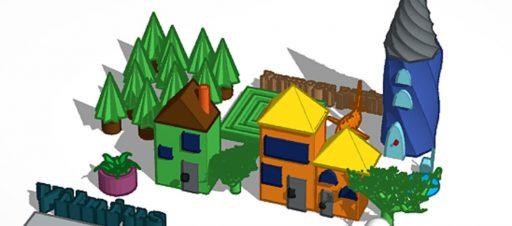 Miestai, kurti programa Tinkercad