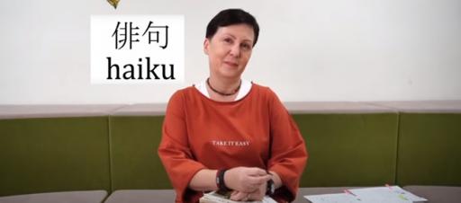 Haiku su rašytoja Ilona Ežerinyte